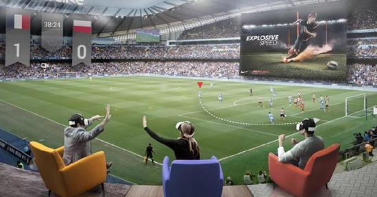 """▲未来的足球比赛,或许坐在客厅里,就能体验到""""现场""""的感觉"""