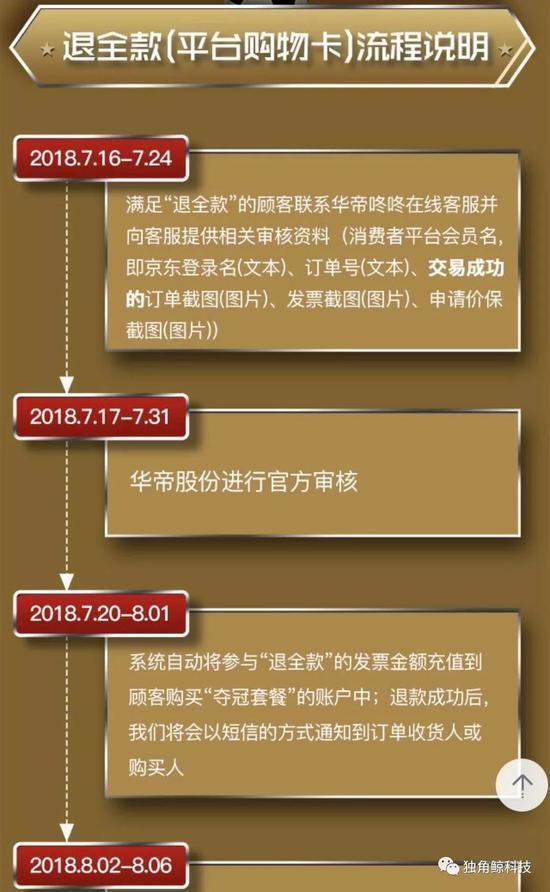 ▲京东公布的退款需要的材料