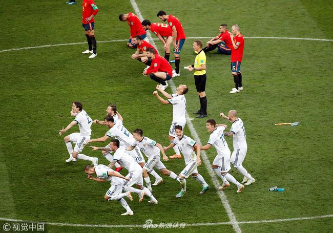西班牙点球惜败俄罗斯
